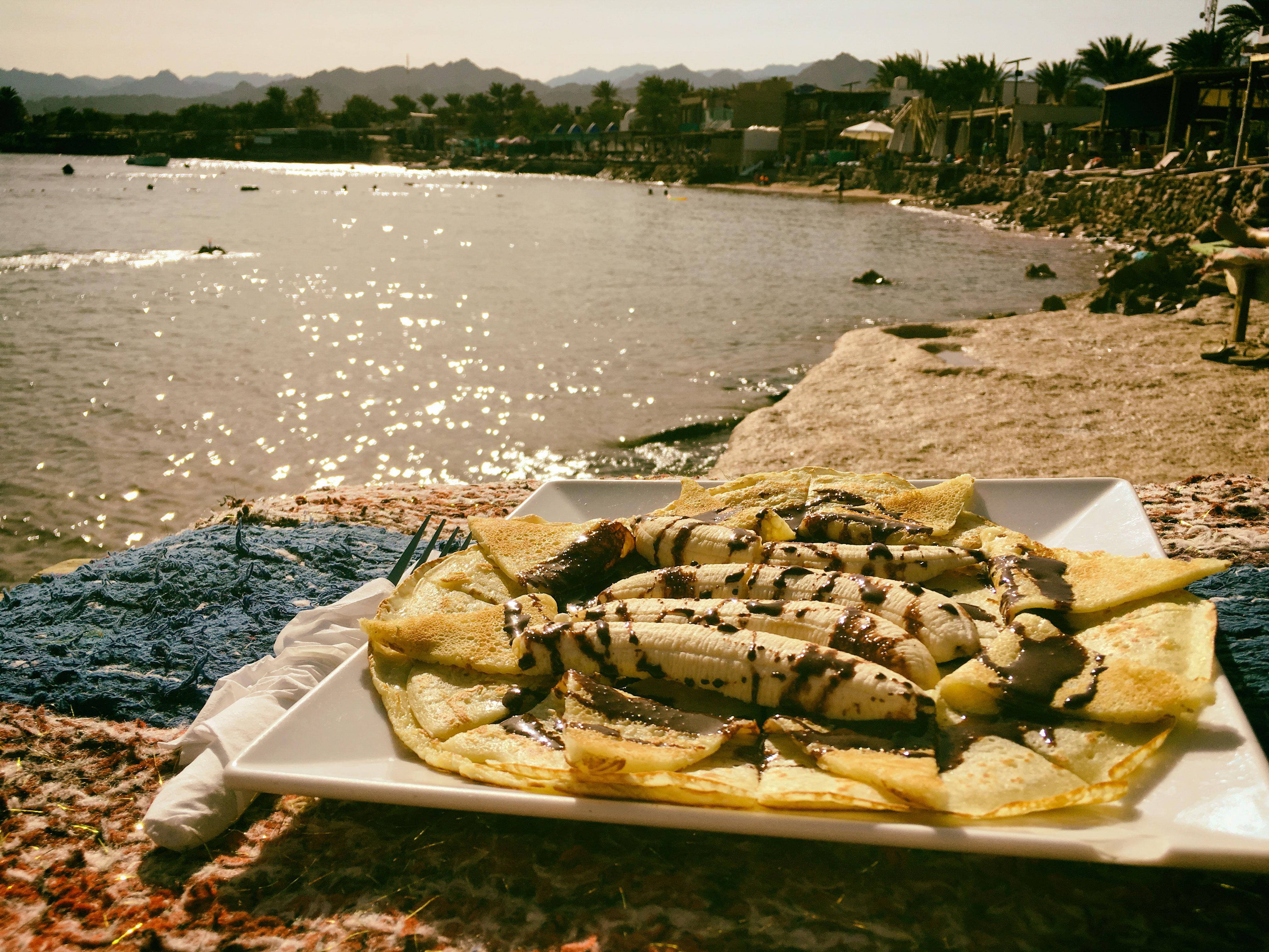 Mittagspause am Strand von Dahab