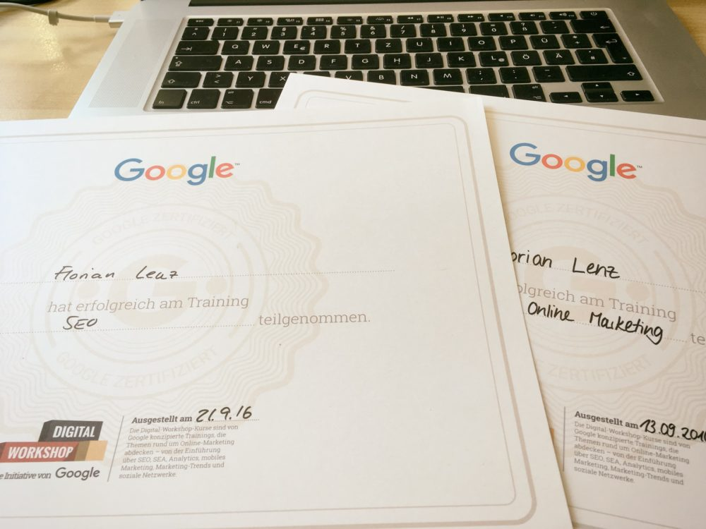 Florian Lenz - Google SEO Workshop