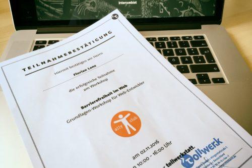 Florian Lenz - Workshop Barrierefreiheit