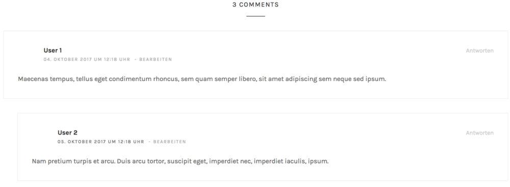 Korrigierte Kommentar-Anzahl in Wordpresspress-comment-count1
